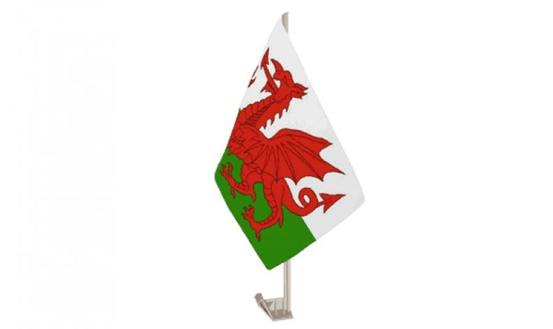 Autovlag Wales Welsh auto vlaggen