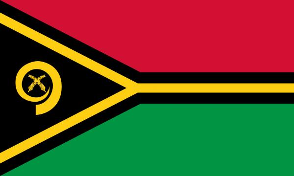 Vlag Vanuatu 100x150cm Glanspoly