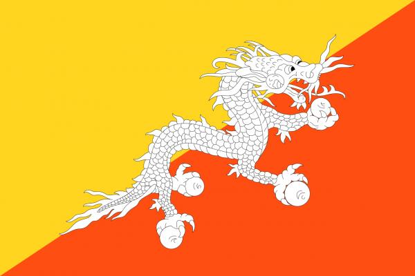 Vlag Bhutan 100x150cm Glanspoly