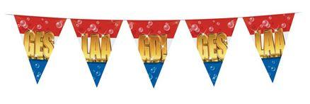 Vlaggenlijn Geslaagd in gouden letters10m