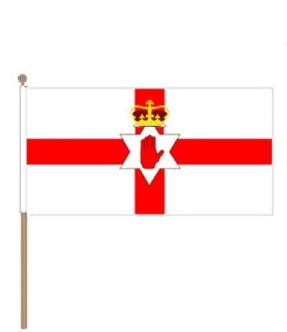 Zwaaivlag Noord Ierland Noord Iers zwaaivlaggetje 15x22,5cm