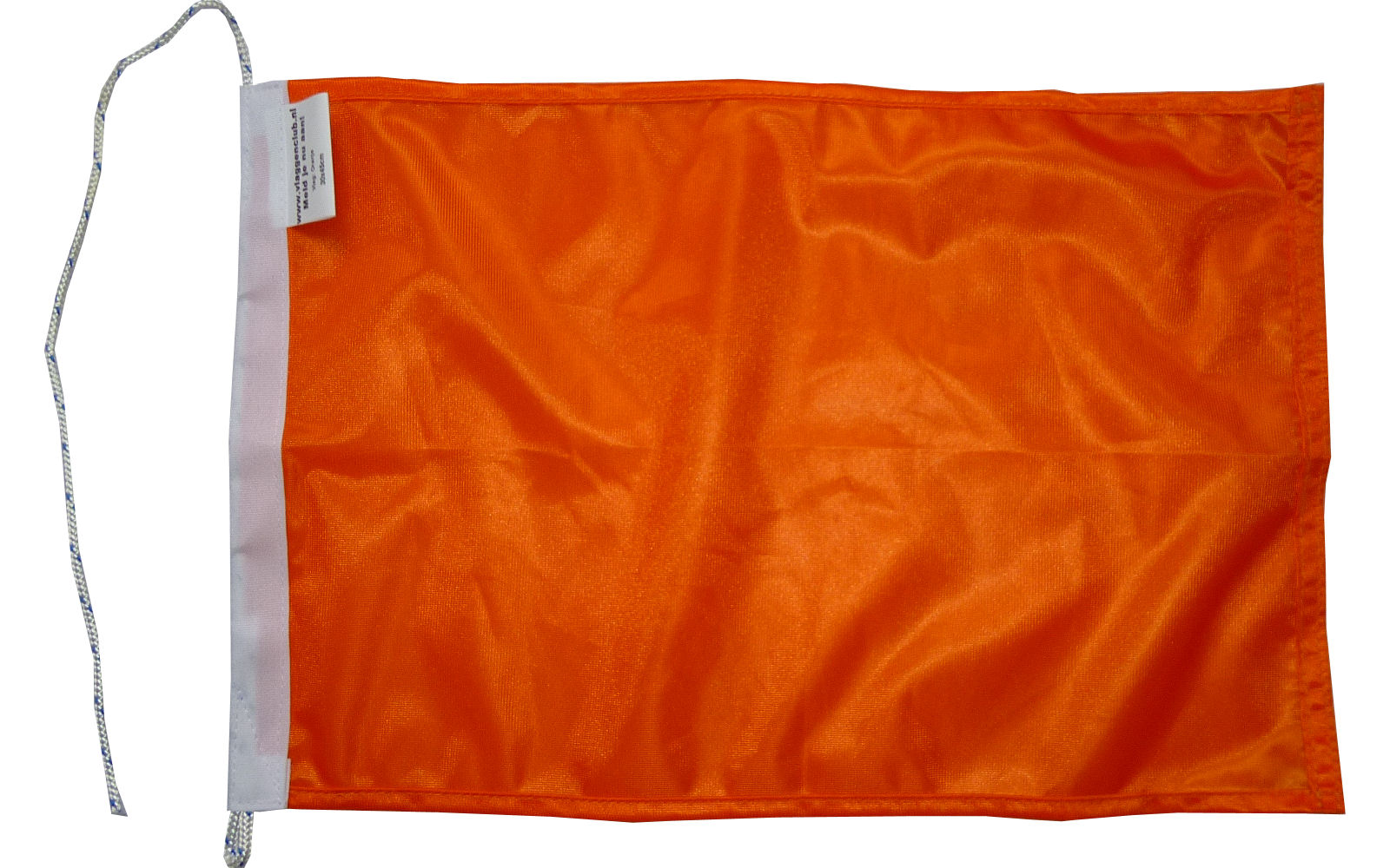 Oranje vlag rechthoekig