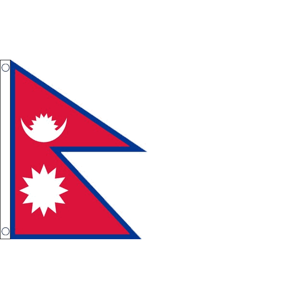 steun Nepal vlag 90x150cm Nepalese vlaggen per vlag maken wij € 5,00 over naar Nepal