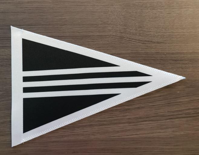 Rouwstoet vlag voor magnetische autovlag standaard 1