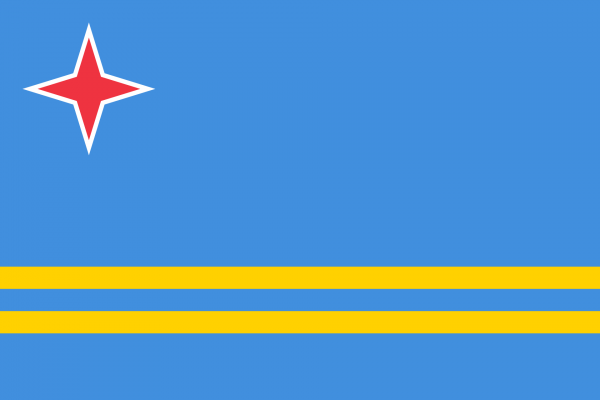 Tafelvlag Aruba met standaard
