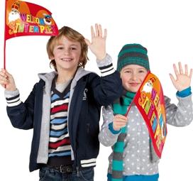 Welkom Sint en Piet zwaaivlaggen Sinterklaas