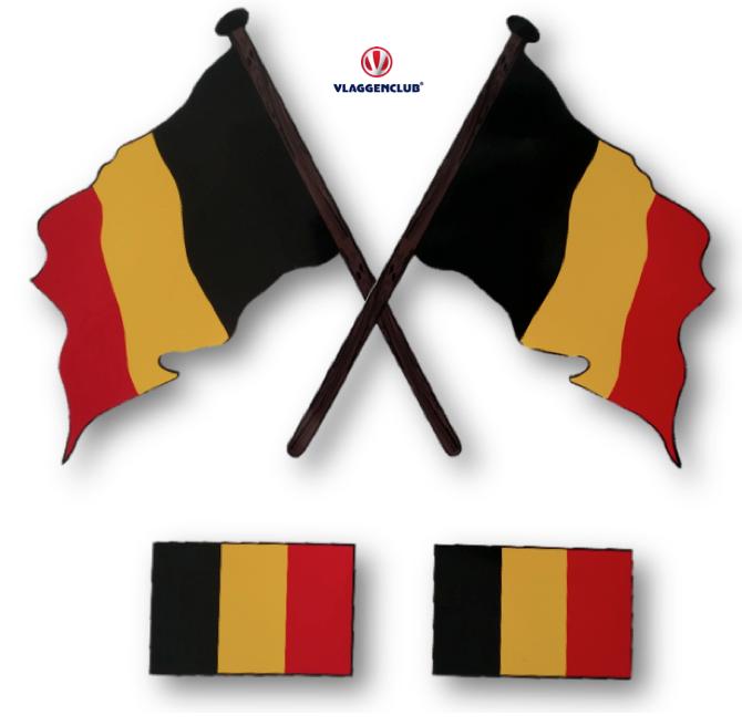 Stickers Belgische vlag 4 stuks