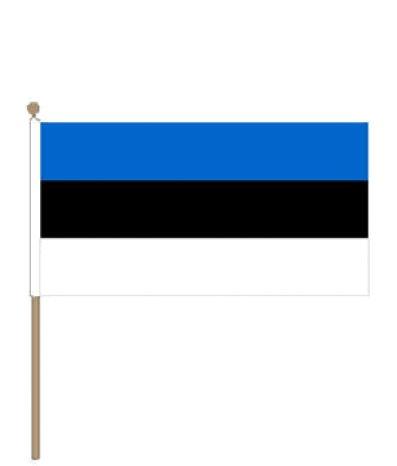 Zwaaivlag Estland, Estlandse zwaaivlaggen  15x22,5cm, stoklengte 30cm