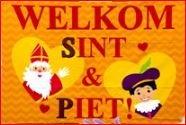 Sinterklaasvlag 60x90cm welkom sint en Piet