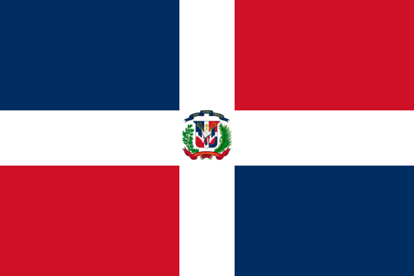vlag Dominicaanse Republiek | Dominicaanse vlaggen 100x150cm