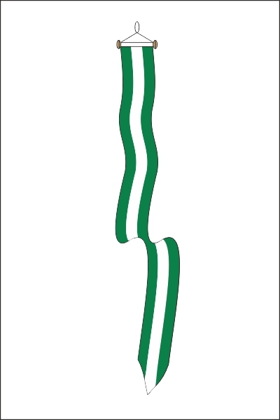 Wimpel Rotterdam met stokje 25x300cm