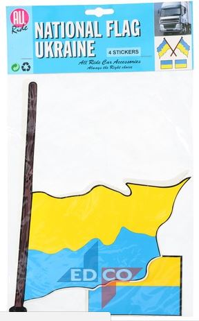 Oekraïense vlag Oekraïne stickers 4 stuks (2 varianten)