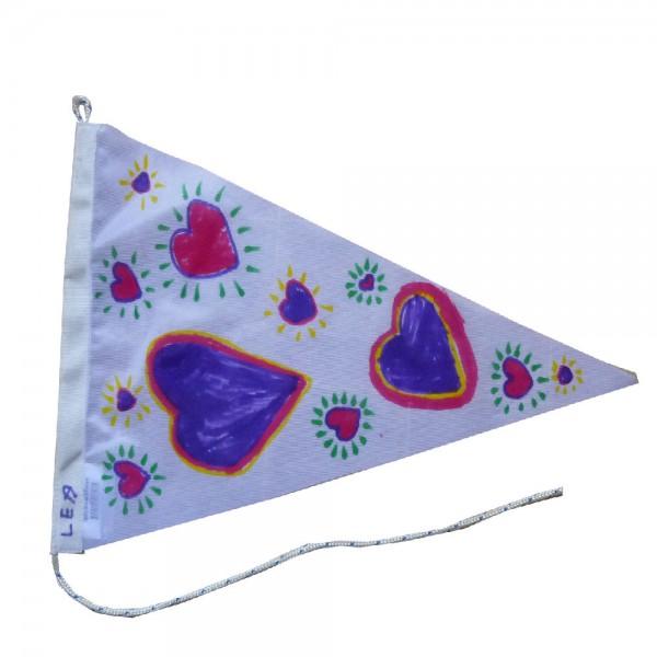 Voorbeeld wimpel gemaakt met Vlaggenclub pakket