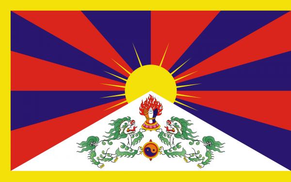 Vlag Tibet 100x150cm Glanspoly