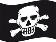 Piratenvlag 60x90cm Piraten vlaggen