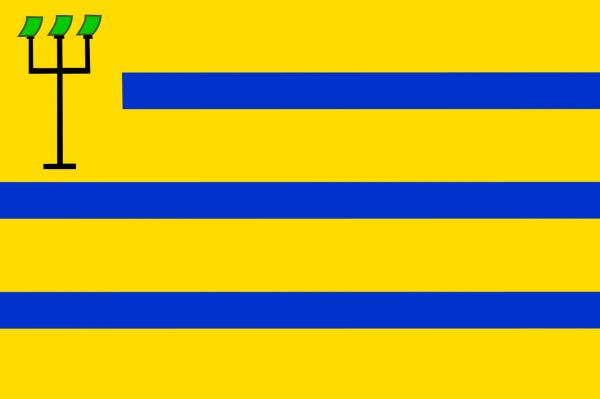 Vlag Oostzaan 100x150cm gevelvlag
