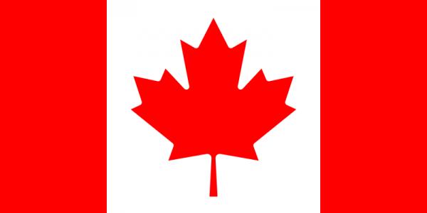 Vlag Canada 100x150cm Glanspoly
