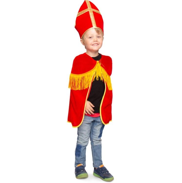 Sinterklaas cape met Mijter voor kinderen, 1 maat