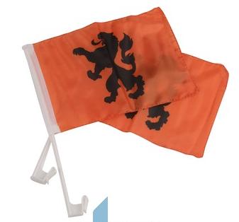 Holland Autovlag Oranje met Leeuw per 2 stuks