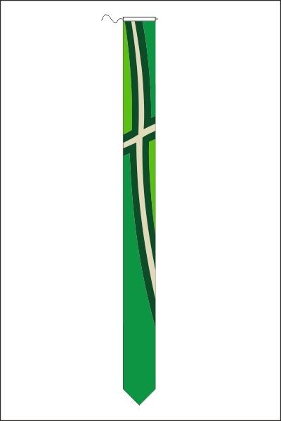 Achterhoekse wimpel met koord en lusje 25x300cm