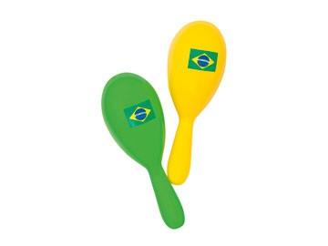 WK | EK Maracas Sambaballen Brazilië 2 kleuren (18 cm)