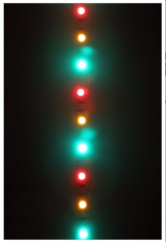 Ledstrip lichtdecoratie rood/geel/groen 5m 300 lamps