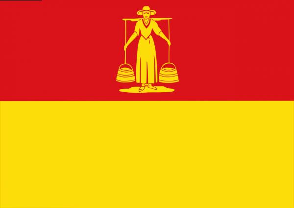 Grote vlag Huizen