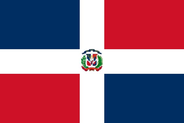 Tafelvlaggen Dominicaanse Republiek 10x15cm | Dominicaanse tafelvlag