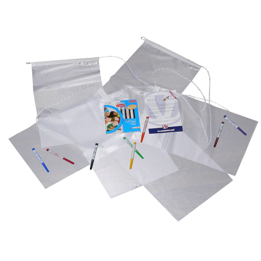 Vlaggenclub vlaggen pakket vertrekkers small