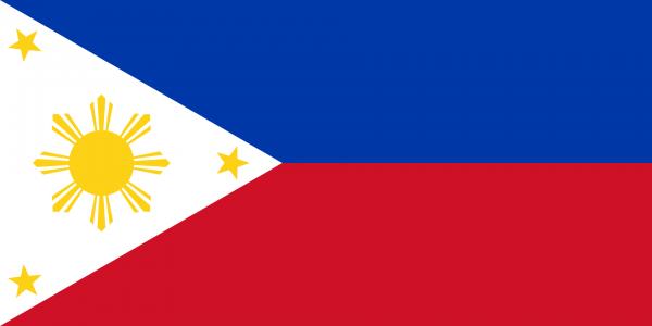 Tafelvlag Filipijnen met standaard
