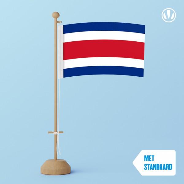 Tafelvlag Costa Rica met standaard