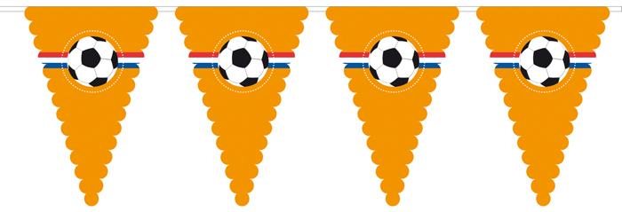 Oranje Vlaggenlijn Voetbal 8 meter lang WK   EK XXL