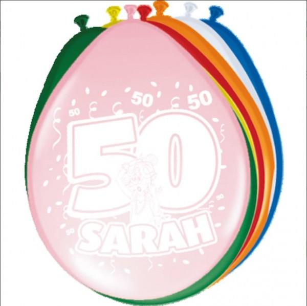 Ballonnen 50 Sarah 8 stuks