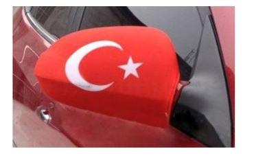 Autospiegelhoes met Turkse vlag set van 2 spiegel hoezen