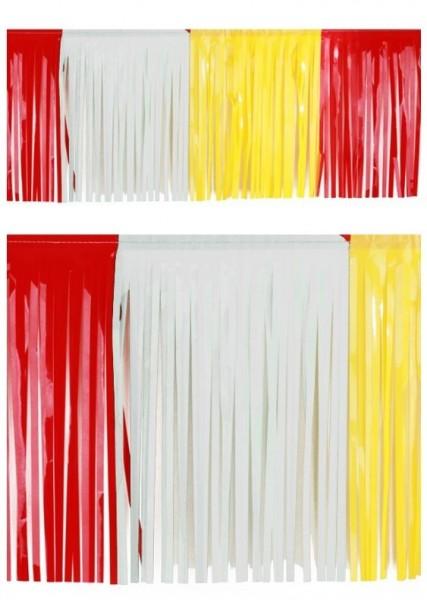 Vlaggenlijn slierten Carnaval Oeteldonk rood/wit/geel BRANDVERTRAGEND 6m