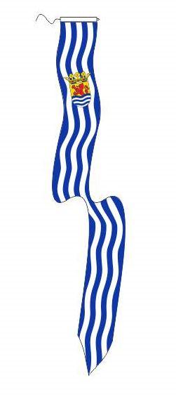 Zeeuwse wimpel Zeeland koord en lus traditioneel 25x300cm