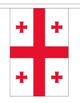 Vlaggenlijn Georgië stof 9m