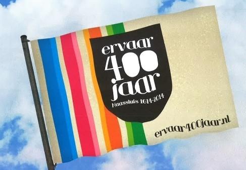Vlag viering 400 jaar Maassluis 100x150cm de officiele vlaggen