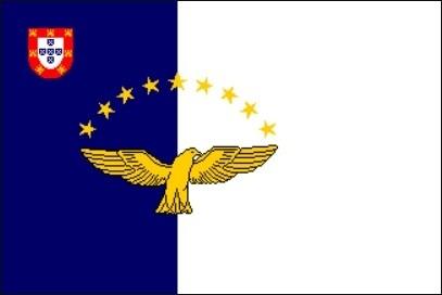 vlag Azoren 30x45cm
