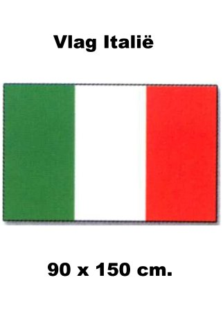 vlag Italie 90x150cm Best Value Italiaanse vlaggen