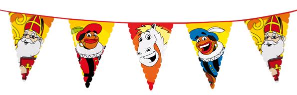 Welkom Sint en Piet vlaggenlijn