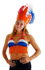 Oranje bikini top RWB Raffia EK | WK en Koningsdag