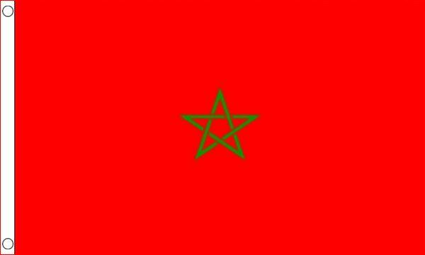 Vlag Marokko 90x150cm Marrokaanse vlaggen goedkoop kopen