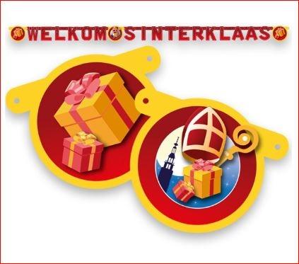 Feestversiering welkom Sinterklaas letterslinger 3m