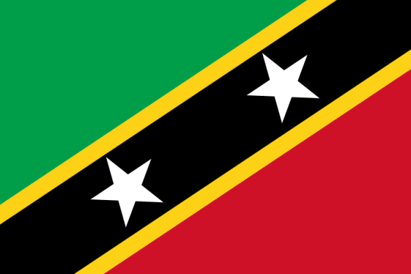 Tafelvlaggen Saint Kitts en Nevis 10x15cm | Saint Kitts and Nevis tafelvlag
