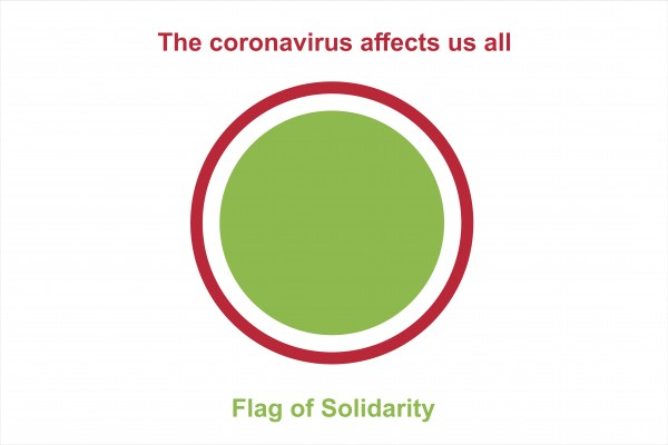 I support the fight against COVID-19 | Flag of Solidarity
