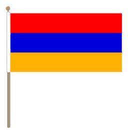 Zwaaivlag Armenië ,Armeense zwaaivlag 30x45cm, stoklengte 60cm