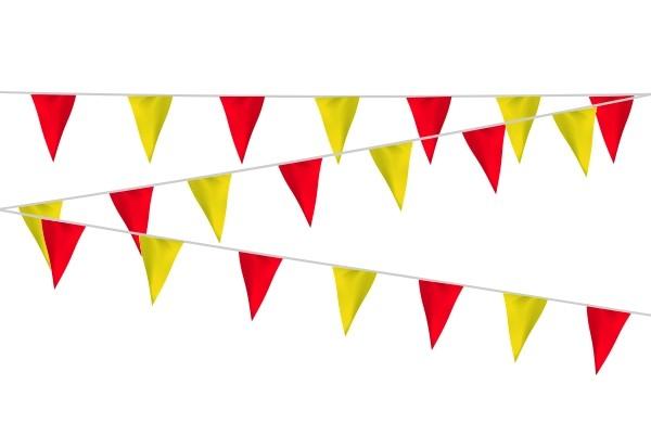 Vlaggenlijn rood/geel geel/rood kunststof 20m1 extra zware kwaliteit