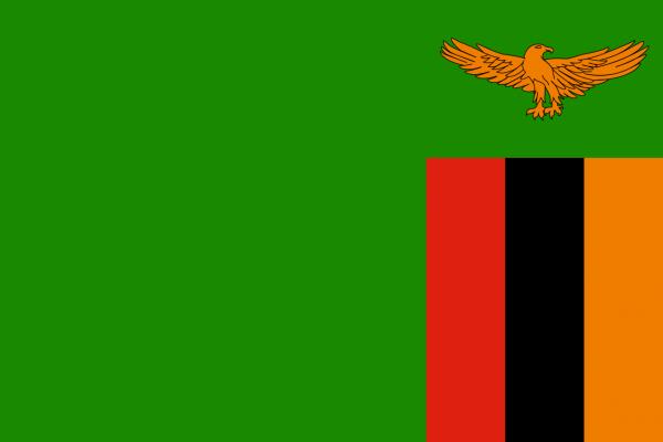 Tafelvlag Zambia met standaard