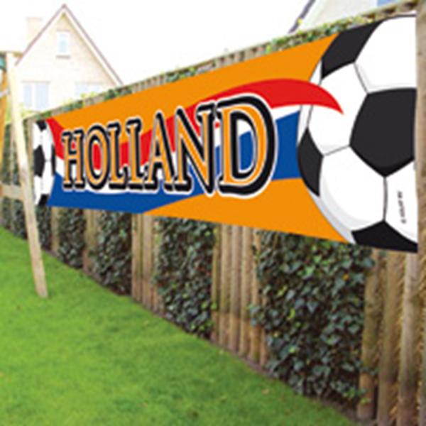 EK WK spandoek Holland Oranje 360x60cm